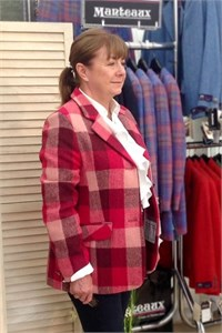 Ladies Tweed Jacket, Red Check
