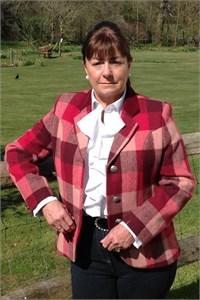 Ladies Tweed Jacket, Red Check