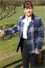 Ladies Tweed Jacket, Navy Check