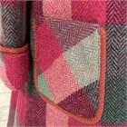 Harris Iona Coat, cerise and grey