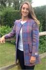 Harris Classic Round Neck Dress Coat, Lavender